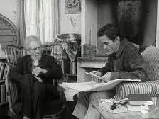 Ezra Pound (1885-1972) junto a Pier Paolo Pasolini (1922-1975)